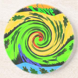 Hakuna Matata Tsunami Love Wave Colors.png Sandstone Coaster