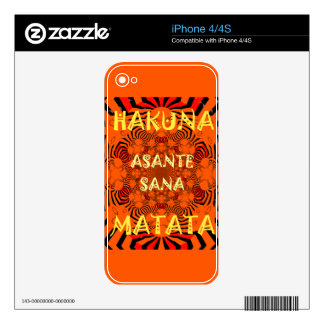 Hakuna Matata Uniquely Exceptionally latest patter Decal For The iPhone 4