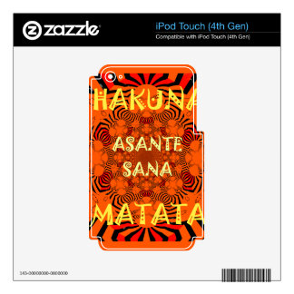 Hakuna Matata Uniquely Exceptionally latest patter Skin For iPod Touch 4G