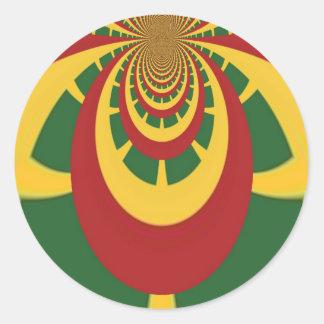Hakuna Matata Vintage COOL RETRO jamaicas Rastas Classic Round Sticker
