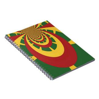 Hakuna Matata Vintage COOL RETRO jamaicas Rastas Notebook