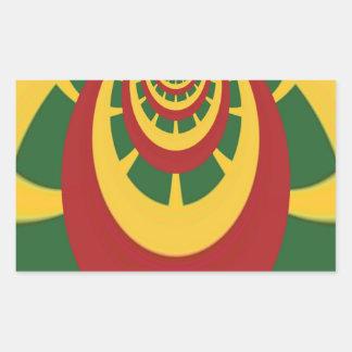 Hakuna Matata Vintage COOL RETRO jamaicas Rastas Rectangular Sticker