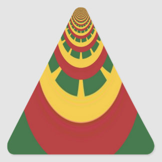 Hakuna Matata Vintage COOL RETRO jamaicas Rastas Triangle Sticker