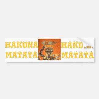 Hakuna Matata Vintage Lady Bumper Sticker