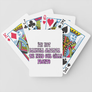 Hakuna Matata we need our Girls Pronto Bicycle Playing Cards