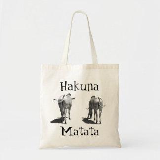 Hakuna Matata zebra tail bag