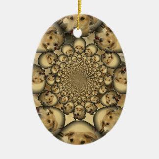Hakuna Matta Puppies and Dogs infinity amazing sty Ceramic Ornament