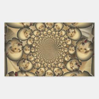 Hakuna Matta Puppies and Dogs infinity amazing sty Rectangle Sticker