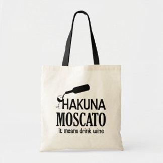 Hakuna Moscato funny women's wine saying bag