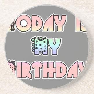 HakunaMatata Gift Today is my Birthday.png Drink Coasters