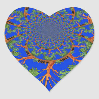 HakunaMatata I'm not allergic to people Eco tree Heart Sticker