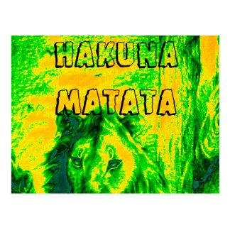 HakunaMatata Kenya Simba Lion Mara safari postcard