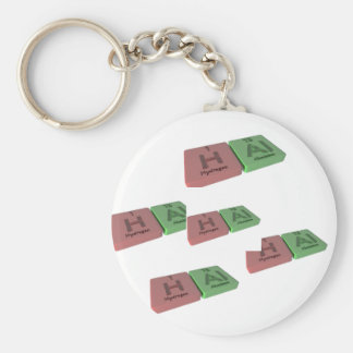 Hal as Hydrogen H and Aluminium Al Keychains