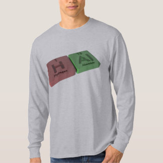 Hal as Hydrogen H and Aluminium Al T-Shirt