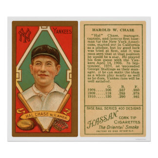 Hal Chase Yankees Baseball 1911 Print
