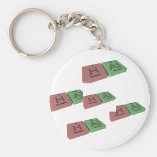 Hal como el hidrógeno H y Al de aluminio Llaveros Personalizados