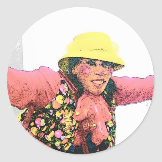 HALAY-LUY-YAH  CLOWN #2 004 (3) cartoon2 Round Stickers