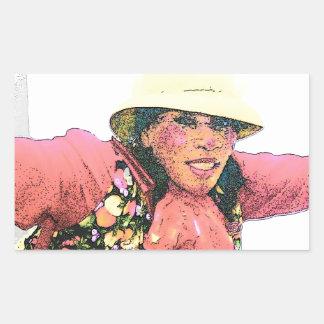 HALAY-LUY-YAH  CLOWN #2 004 (3) cartoon2 Rectangular Stickers