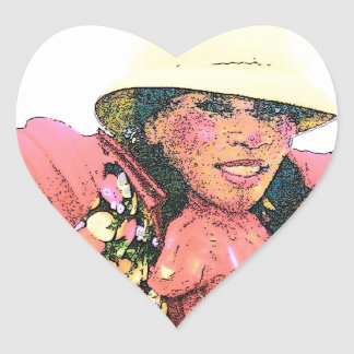 HALAY-LUY-YAH  CLOWN #2 004 (3) cartoon2 Heart Stickers