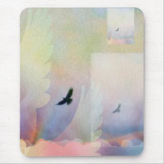 Halcón altísimo abstracto mousepad
