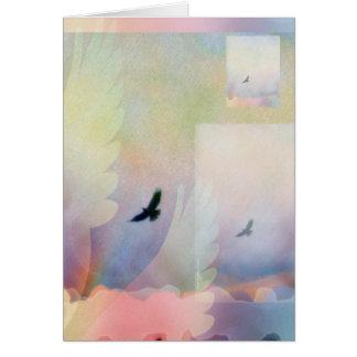 Halcón altísimo abstracto tarjeta de felicitación