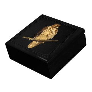 Halcón atado rojo caja de regalo