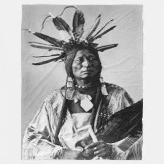 HALCÓN BLANCO,    Cheyenne septentrional - 1876 Manta De Forro Polar