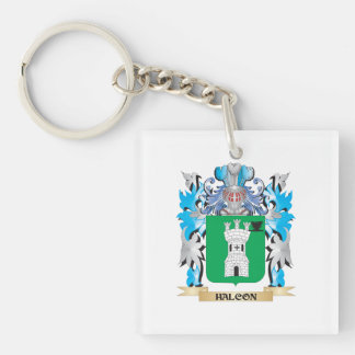 Halcon Coat of Arms - Family Crest Single-Sided Square Acrylic Keychain