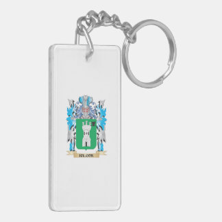 Halcon Coat of Arms - Family Crest Double-Sided Rectangular Acrylic Keychain