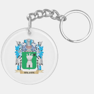 Halcon Coat of Arms - Family Crest Double-Sided Round Acrylic Keychain