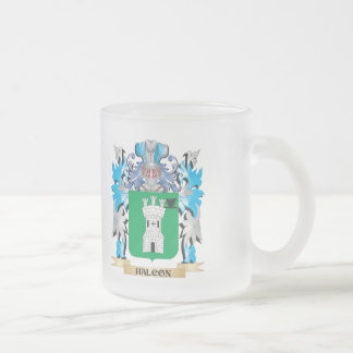 Halcon Coat of Arms - Family Crest 10 Oz Frosted Glass Coffee Mug