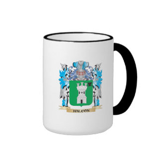 Halcon Coat of Arms - Family Crest Ringer Coffee Mug