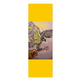 Halcón de pescados acústico tarjetas de visita mini