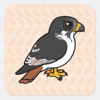Halcón del Augur de Birdorable Pegatina Cuadrada
