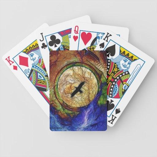 Halcón del cuervo barajas de cartas