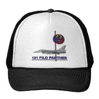 Halcón del F-16 de la pantera de 181 FILO Gorra