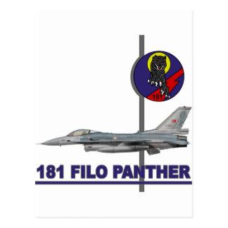 Halcón del F-16 de la pantera de 181 FILO Postales