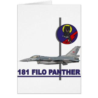 Halcón del F-16 de la pantera de 181 FILO Tarjeta De Felicitación
