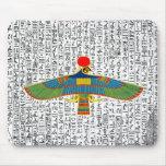 Halcón egipcio antiguo Mousepad de Horus de dios Tapetes De Ratón