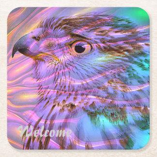 halcón excepcional posavasos desechable cuadrado