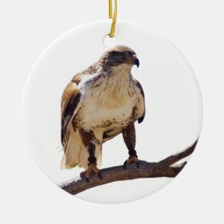 Halcón ferruginoso adorno de navidad