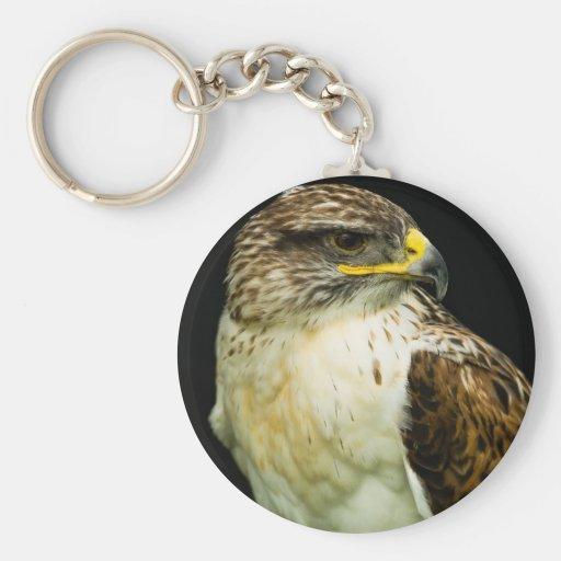 Halcón ferruginoso llavero redondo tipo pin