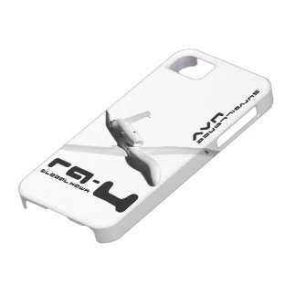Halcón global RQ-4 Funda Para iPhone 5 Barely There