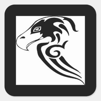 Halcón magnífico y salvaje pegatina cuadrada