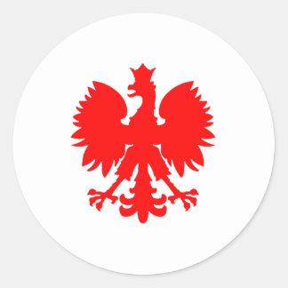 Halcón polaco (Eagle) Pegatina Redonda
