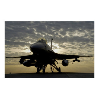 Halcón que lucha de F-16C Póster