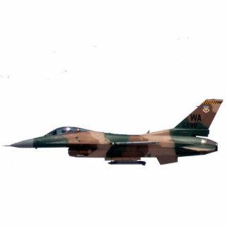 Halcón que lucha del F-16 del agresor del moreno Fotoescultura Vertical