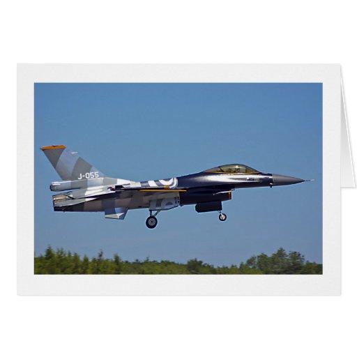 Halcón que lucha F-16 Felicitaciones
