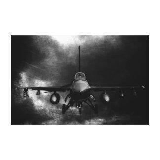 Halcón que lucha F-16 Lienzo Envuelto Para Galerias