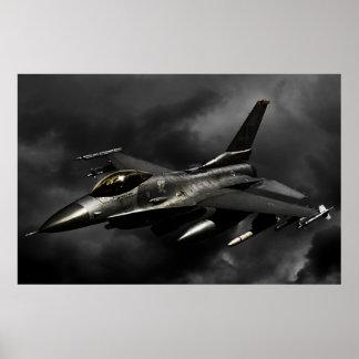 Halcón que lucha F-16 Póster